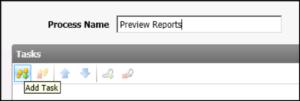 screengrab of adding a new process list task