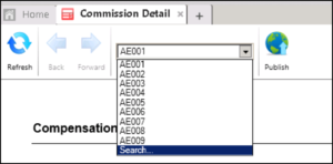 screengrab of searching for payee